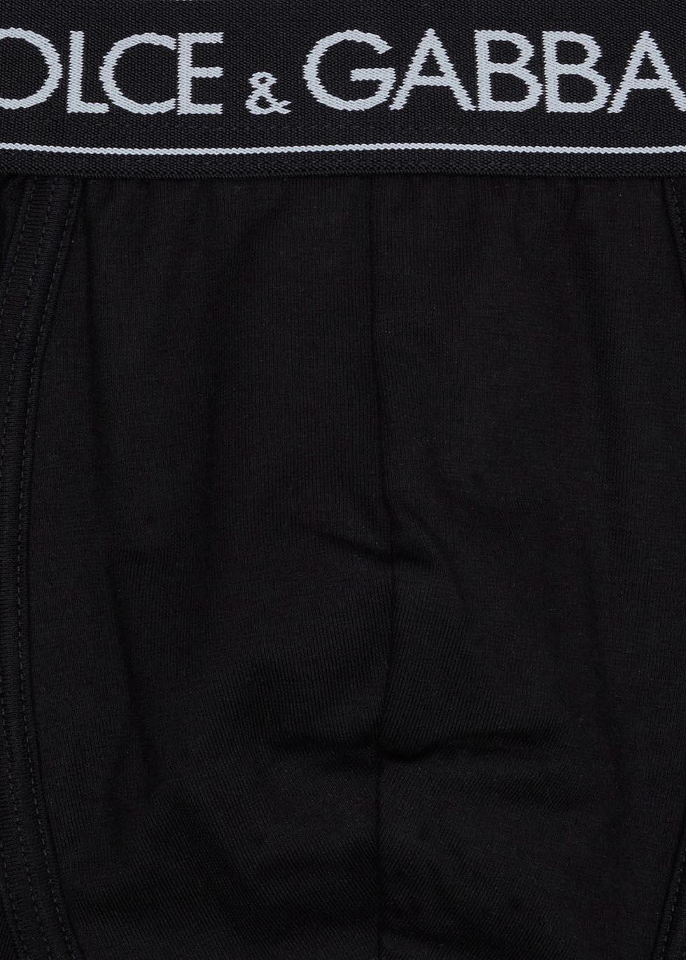 Black stretch cotton boxer briefs - Dolce & Gabbana