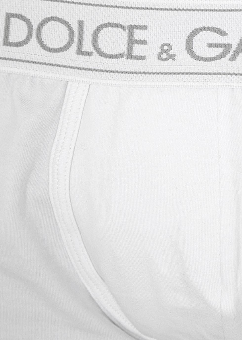 White stretch cotton boxer briefs - Dolce & Gabbana