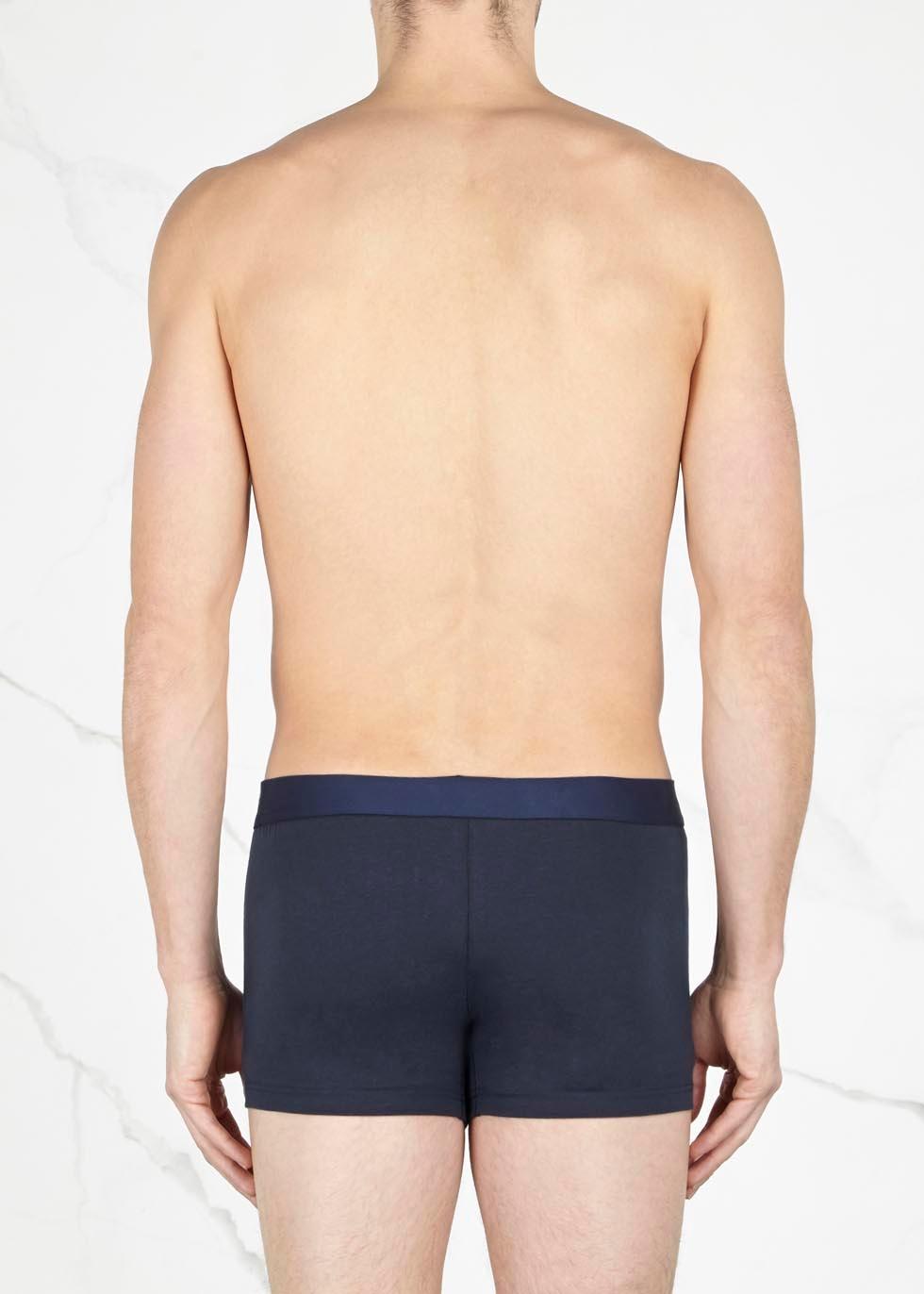 Navy stretch cotton boxer briefs - Dolce & Gabbana