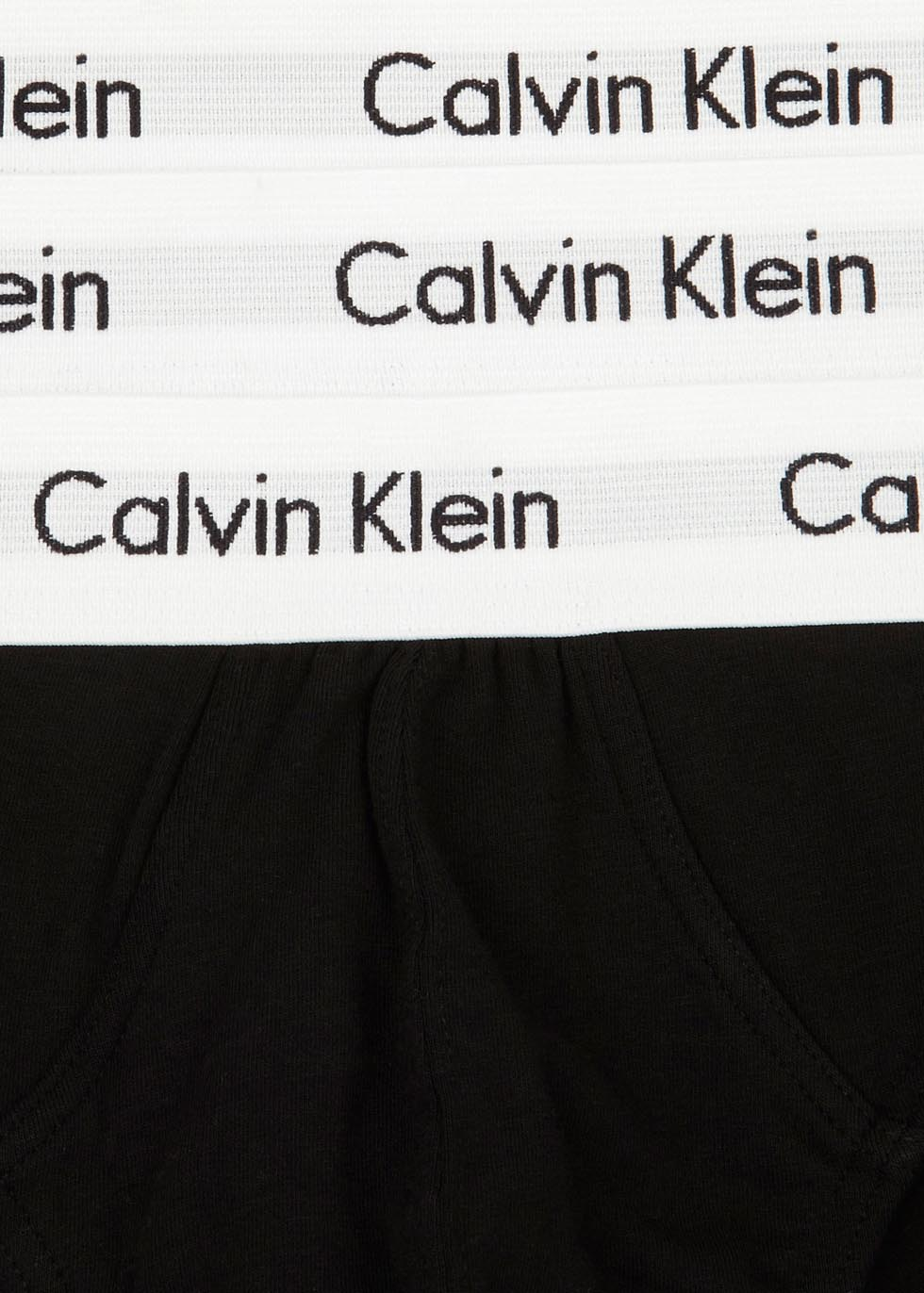 Black stretch cotton briefs - set of three - Calvin Klein