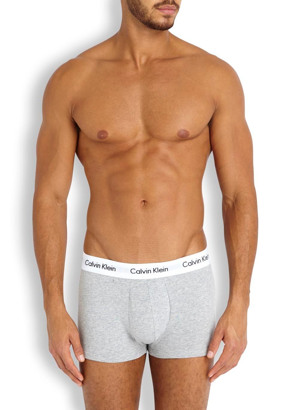 Stretch cotton boxer briefs - set of three - Calvin Klein