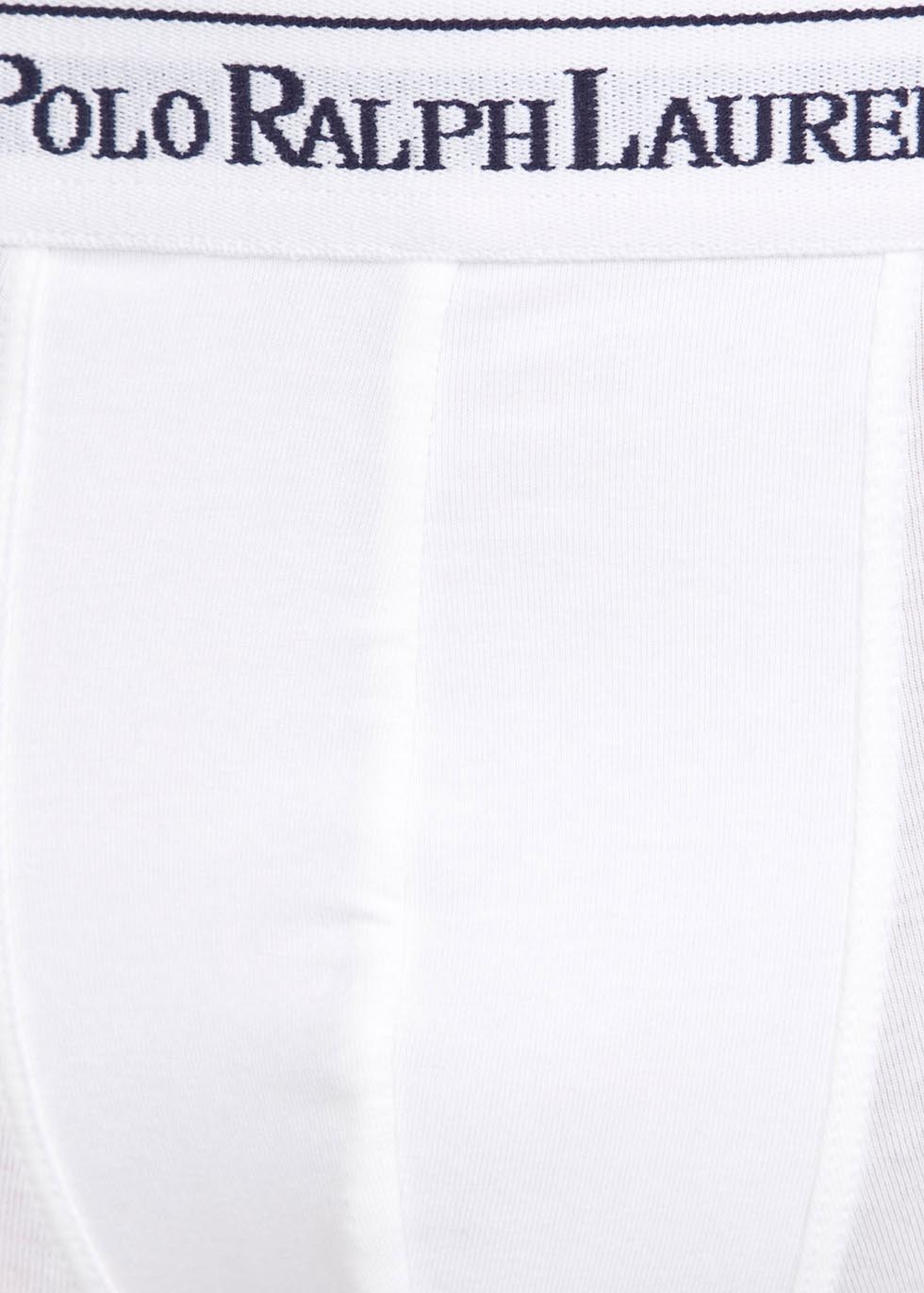 White stretch cotton boxer briefs - set of three - Polo Ralph Lauren