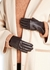Dark brown cashmere-lined leather gloves - Dents
