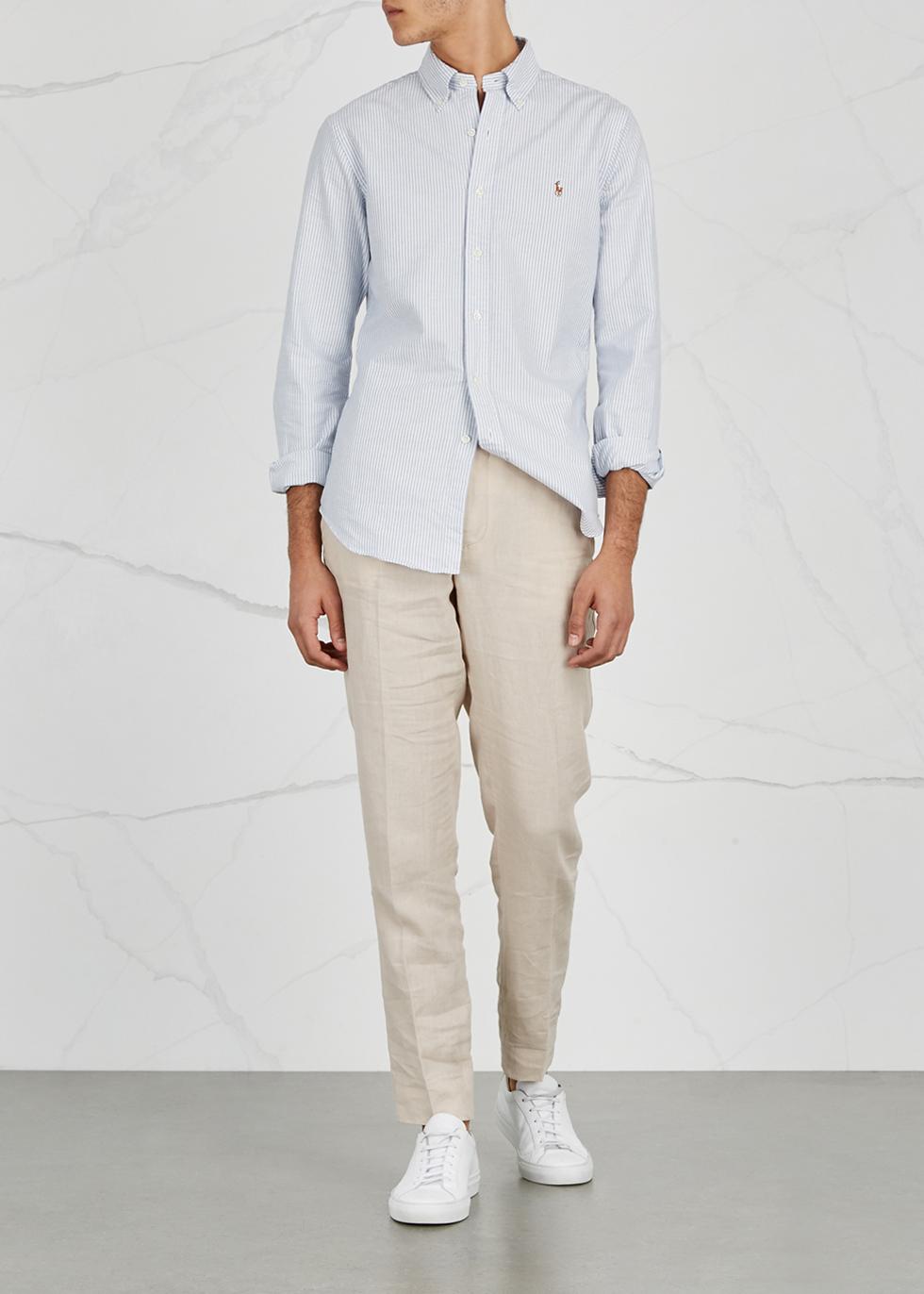 Striped slim piqué cotton Oxford shirt - Polo Ralph Lauren