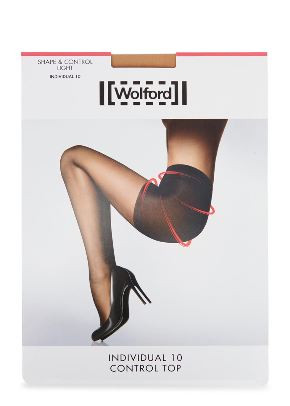 Individual sand control-top 10 denier tights - Wolford