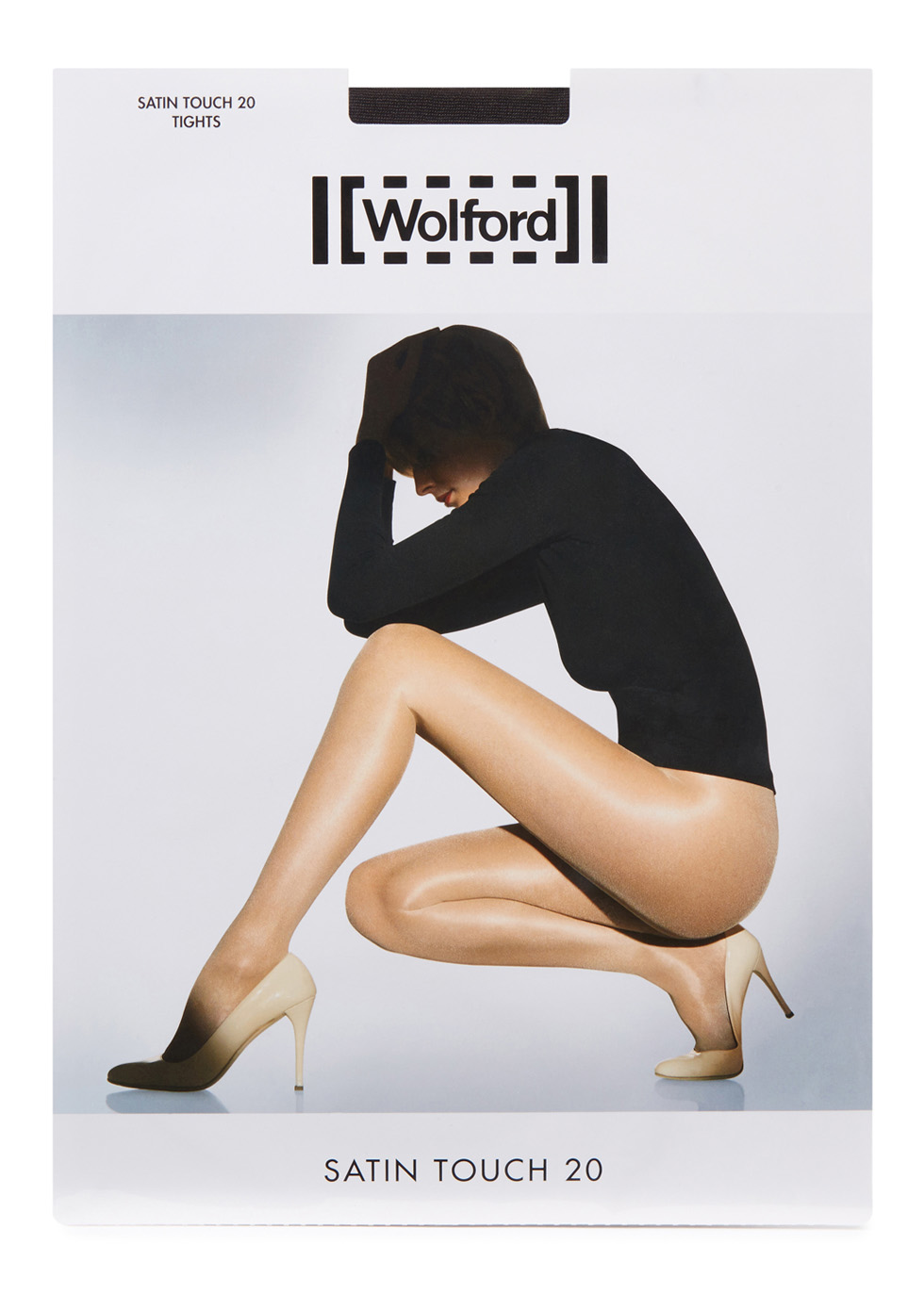 Satin Touch nearly black 20 denier tights - Wolford
