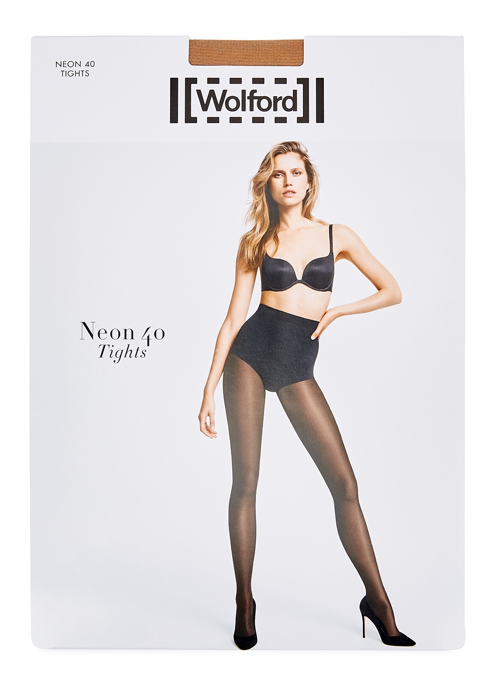 Neon 40 denier sand high-gloss tights - Wolford