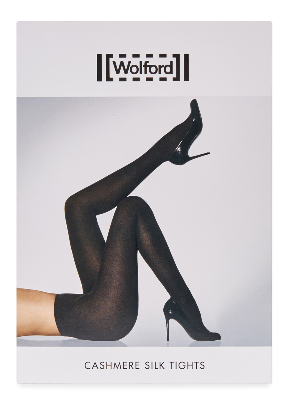 Black cashmere and silk blend tights - Wolford