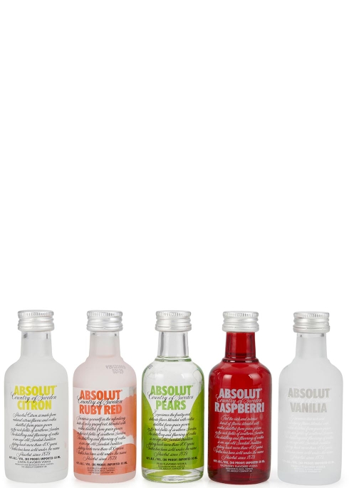Miniature Vodka Sampler Set 5 x 50ml - Absolut