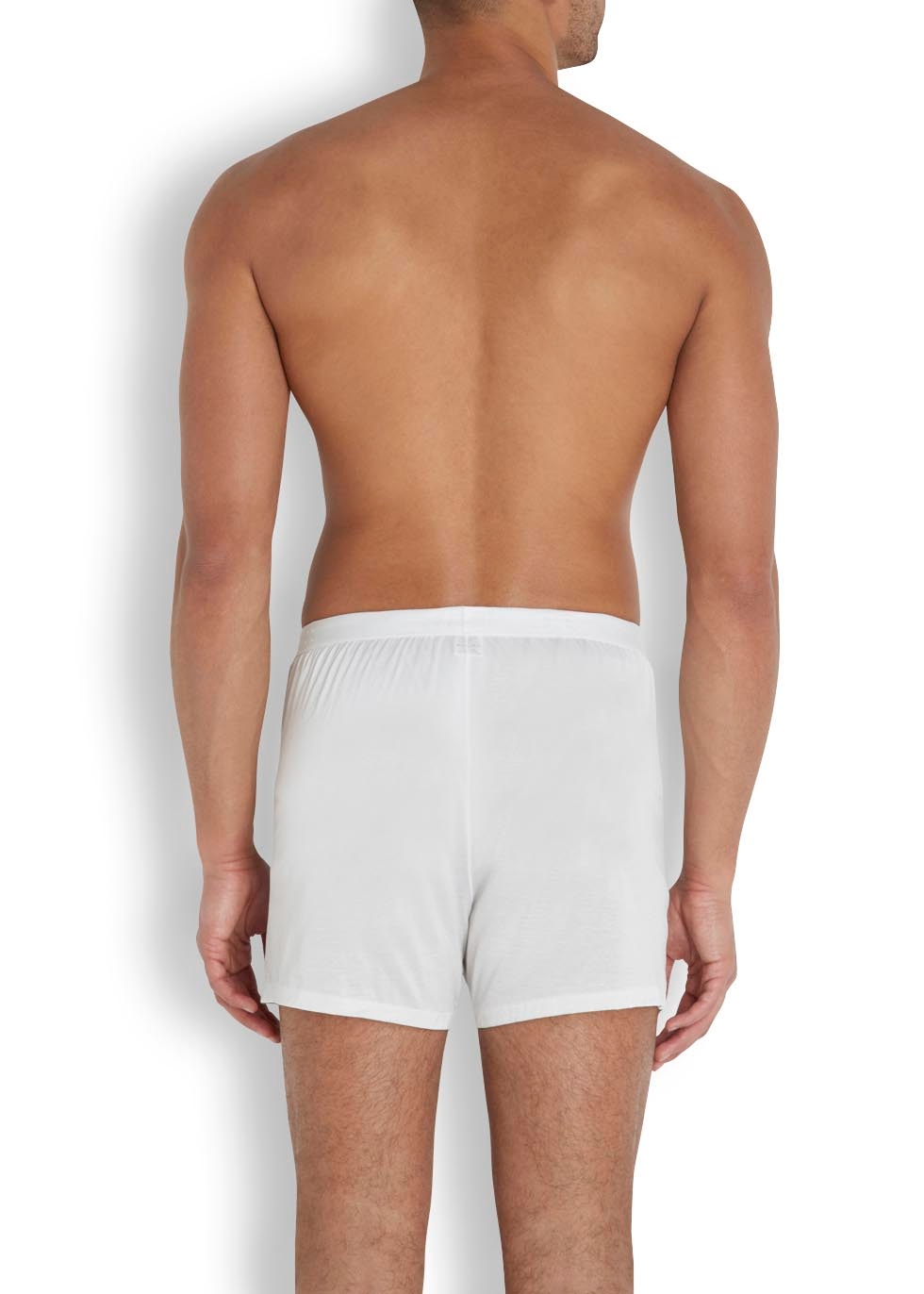 White cotton boxer briefs - Derek Rose