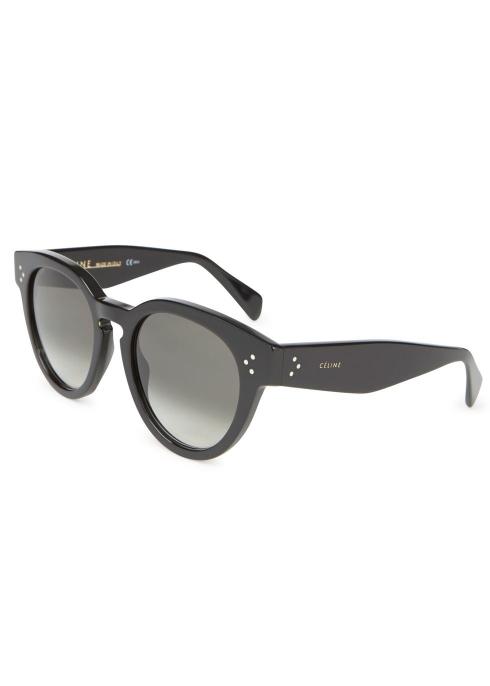 76ed120c31 Celine Black round-frame sunglasses - Harvey Nichols