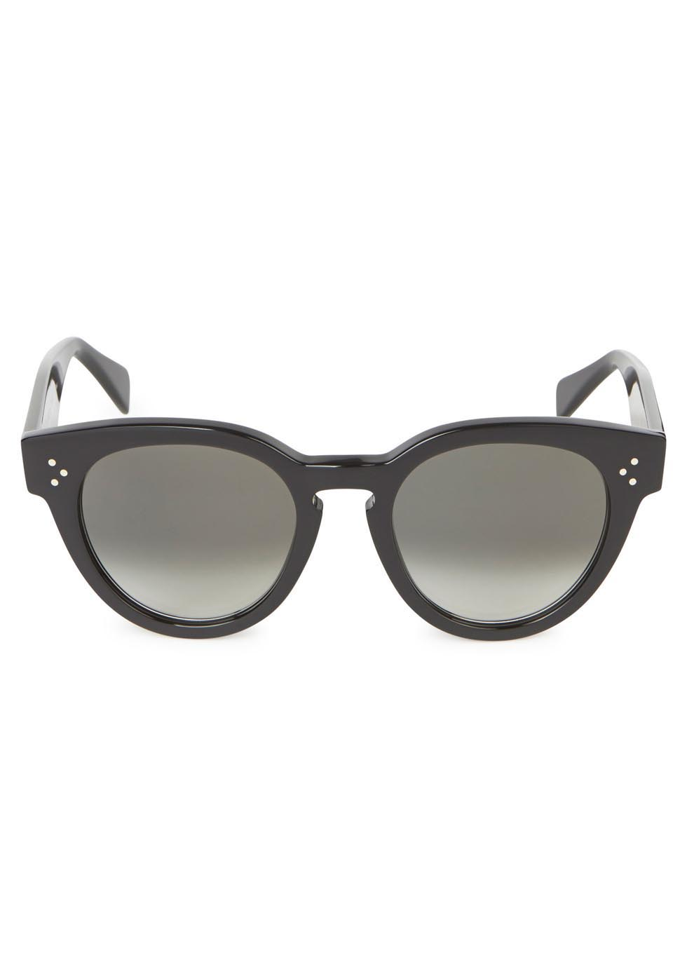 Black round-frame sunglasses - Celine