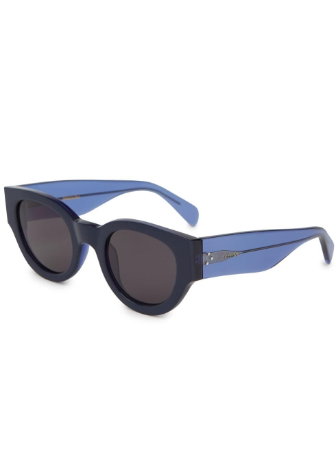 2b16e38dbb Celine Blue round-frame sunglasses - Harvey Nichols