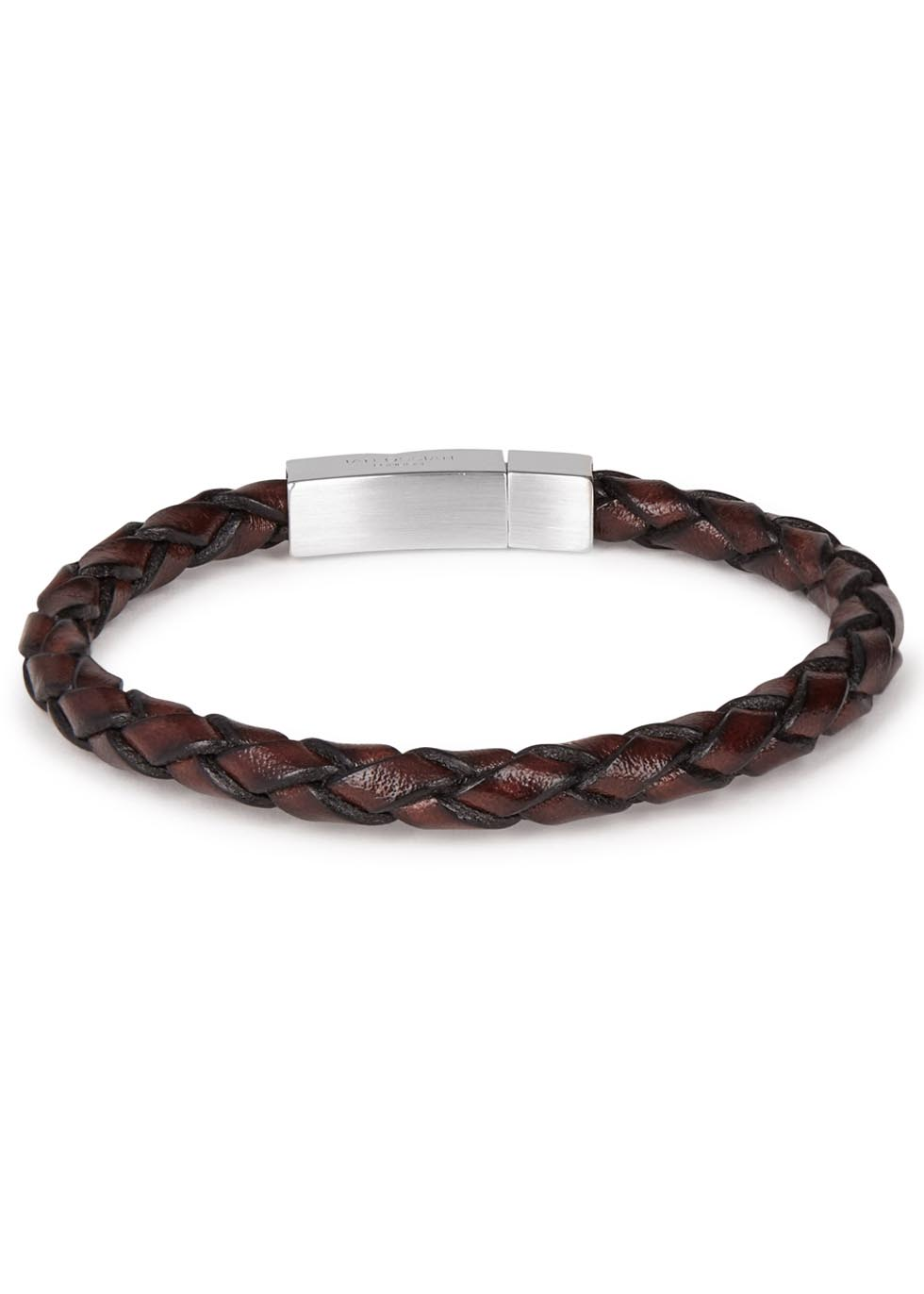 Scoubidou braided leather bracelet - Tateossian
