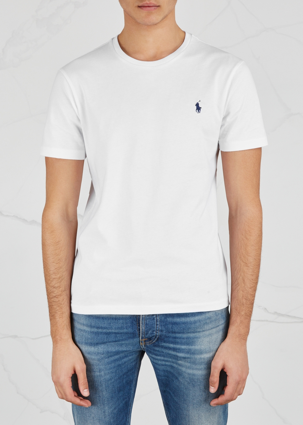 White slim cotton T-shirt - Polo Ralph Lauren
