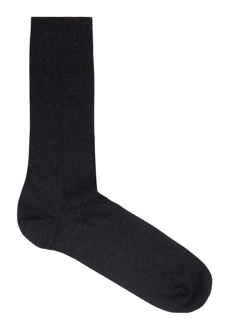 Sensitive charcoal stretch cotton socks - Falke
