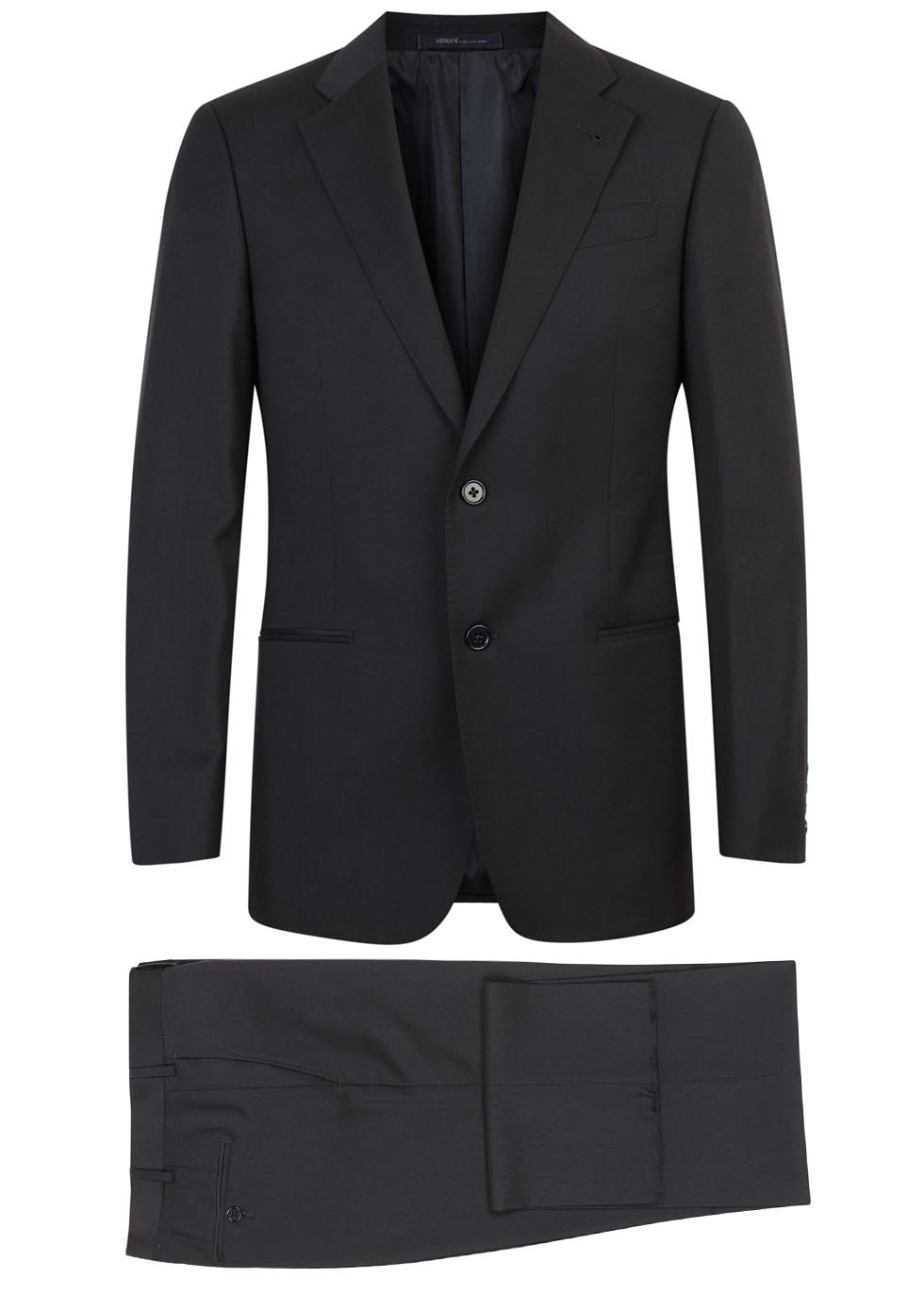 G-line navy wool suit - Emporio Armani