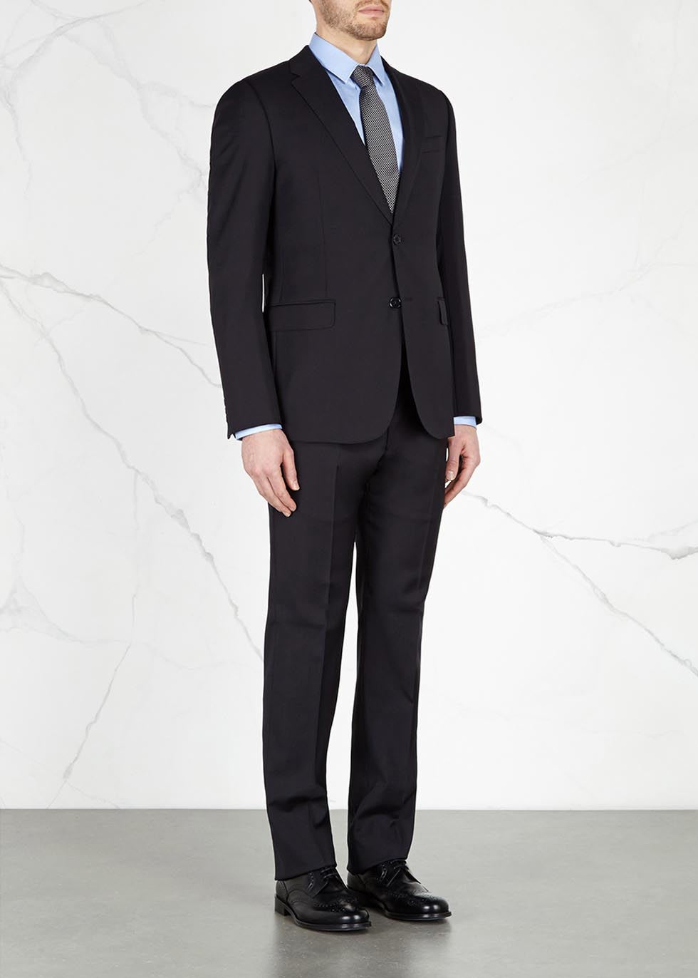 Navy wool suit - Emporio Armani