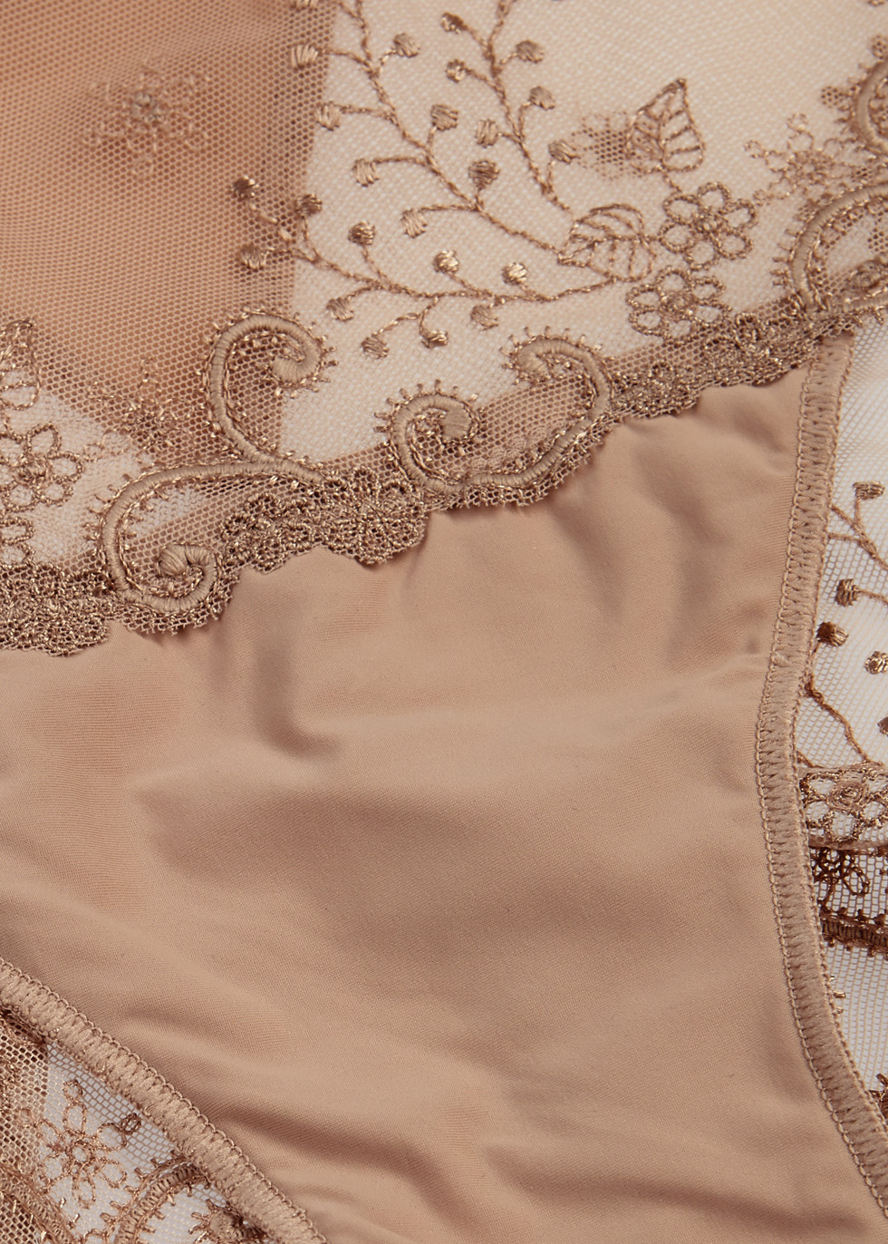 Delice embroidered tulle briefs - Simone Pérèle