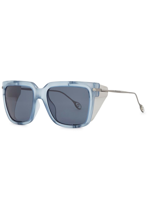 9a03f78326d0f Gucci Blue square frame sunglasses - Harvey Nichols