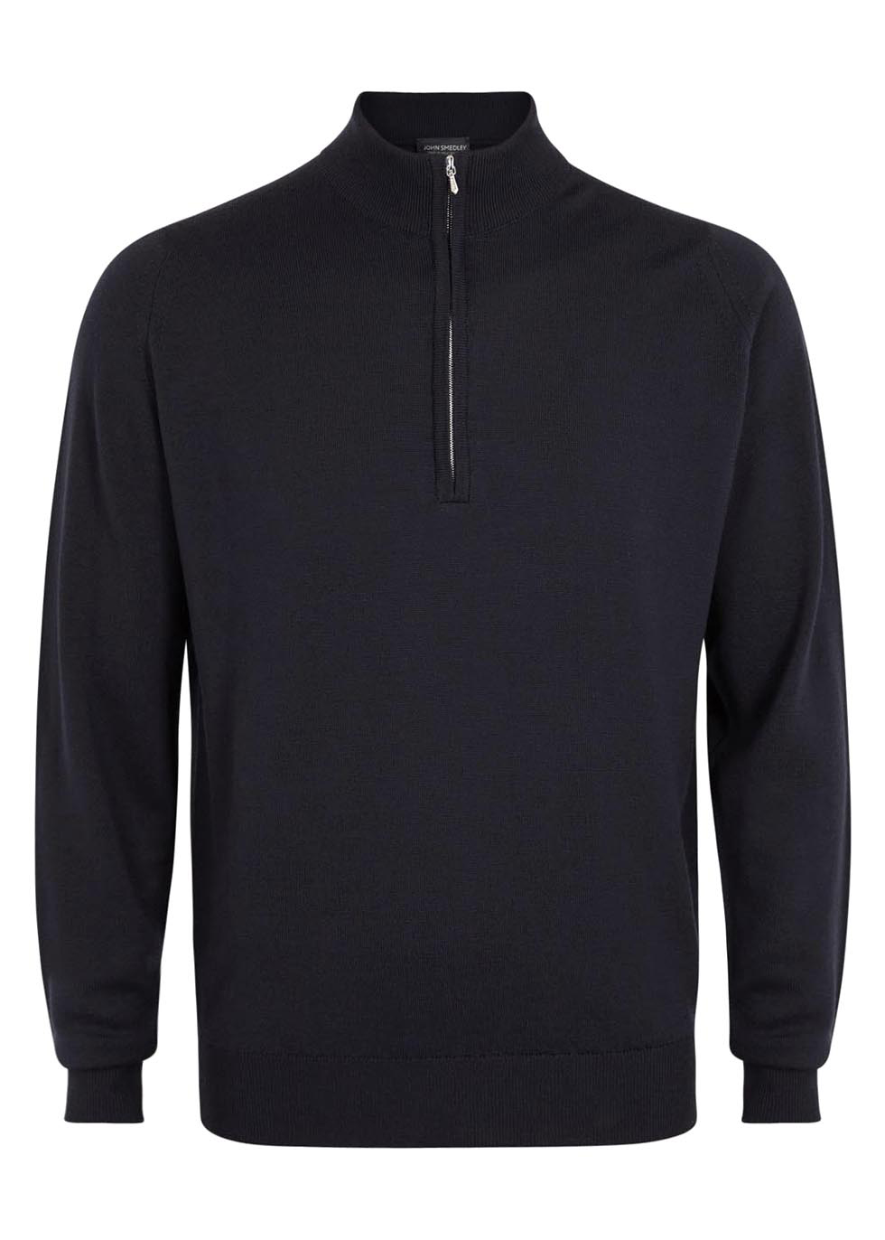 Wyvern navy merino wool jumper - John Smedley