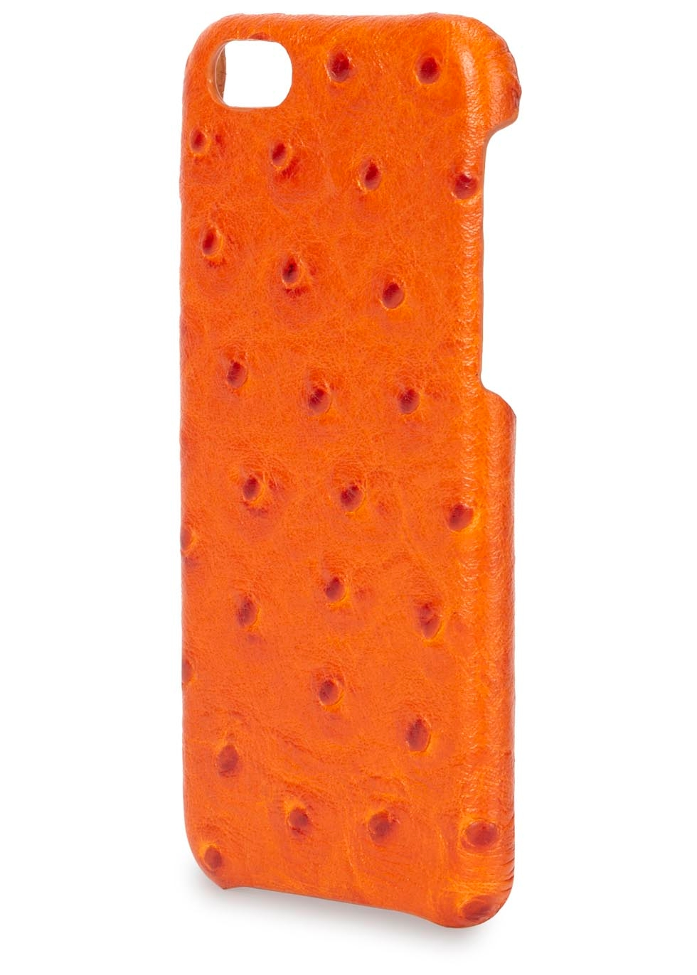 Orange ostrich effect leather iPhone 6 case - The Case Factory