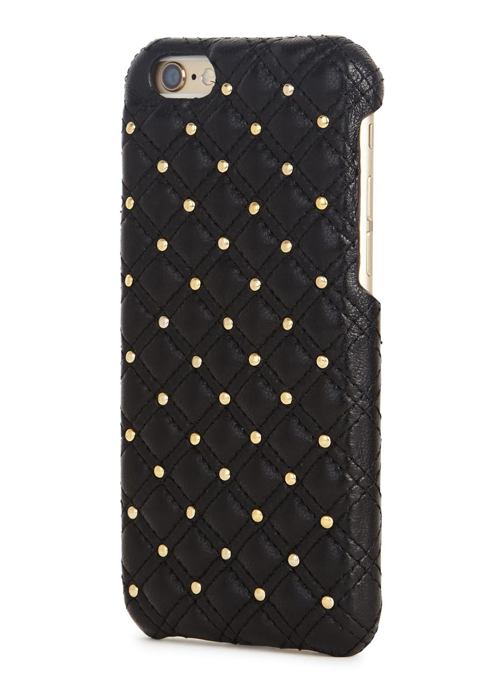 Black studded leather iPhone 6/6S case - The Case Factory