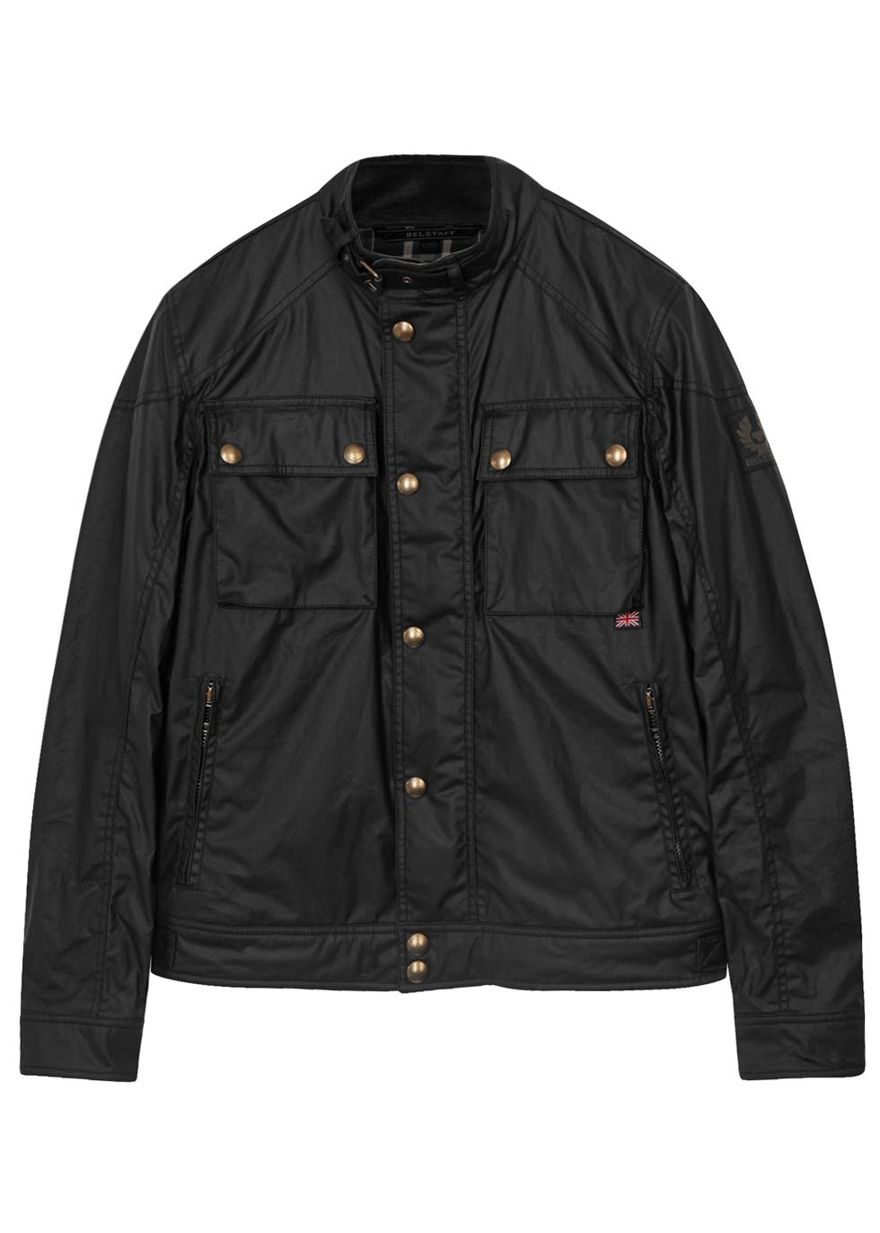 Racemaster black coated cotton jacket - Belstaff