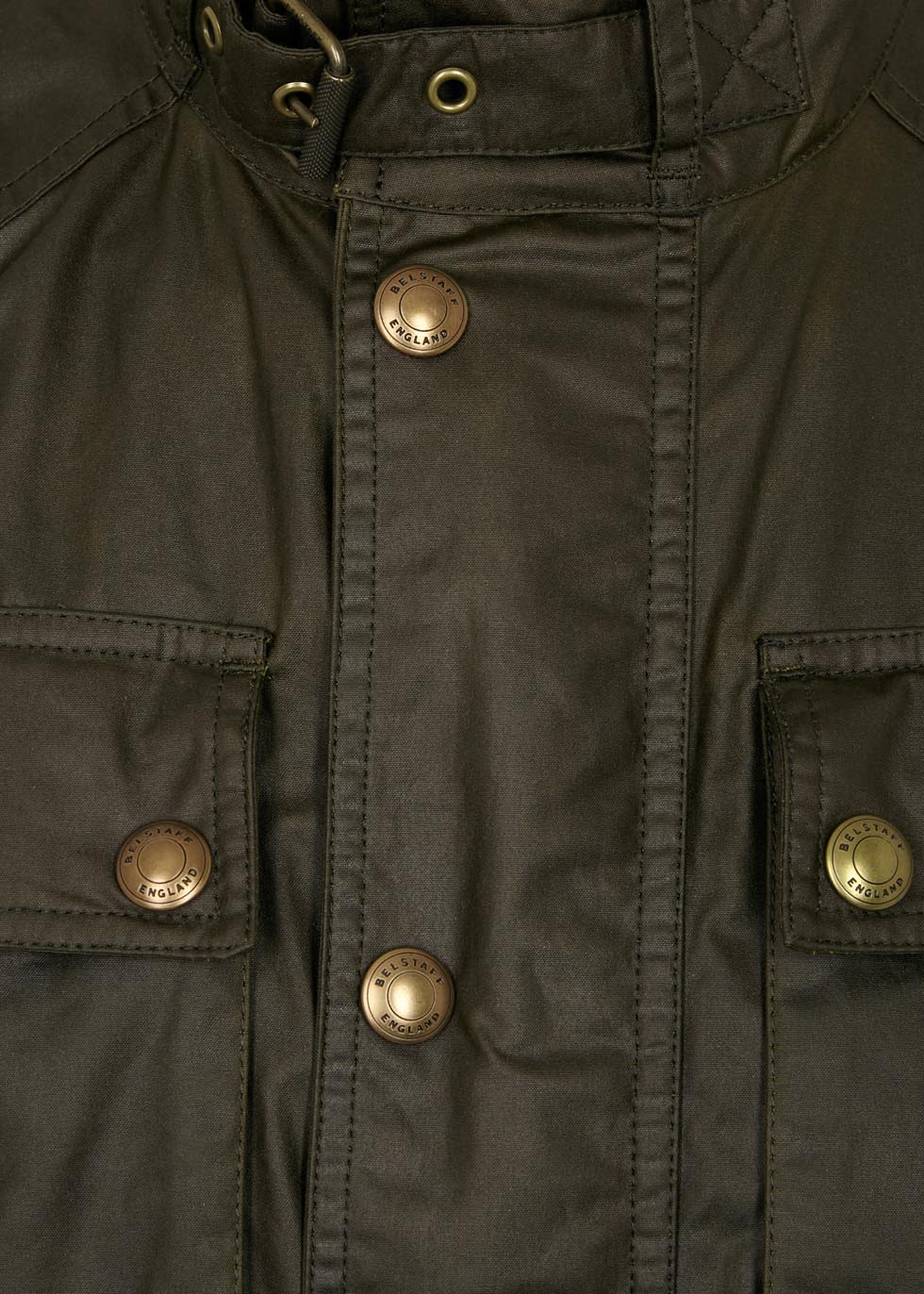 Racemaster olive coated cotton jacket - Belstaff