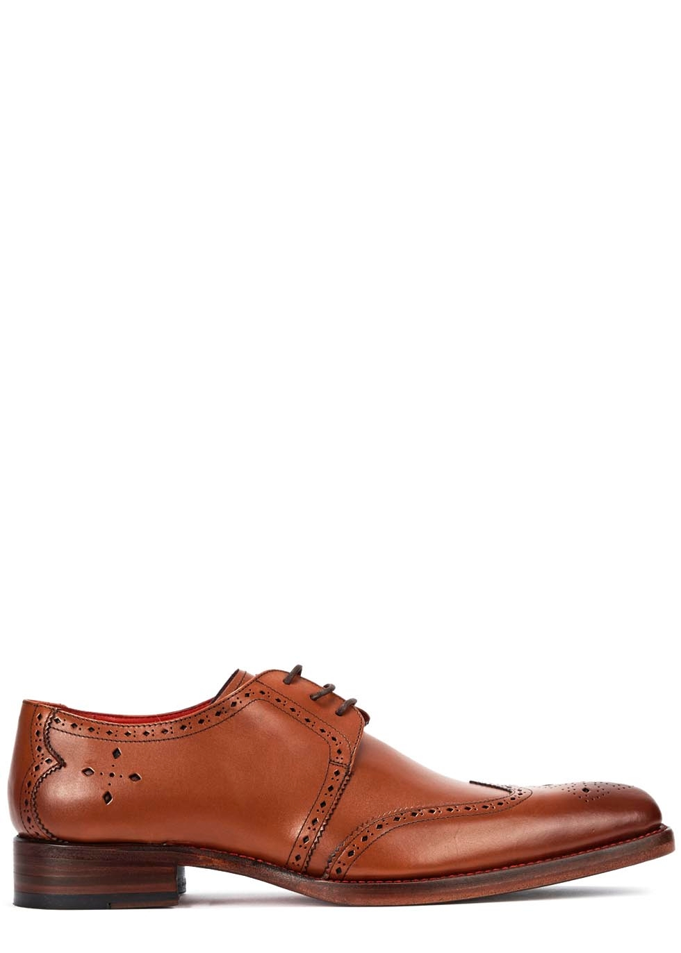 JEFFERY WEST Bay Brown Leather Brogues in Tan