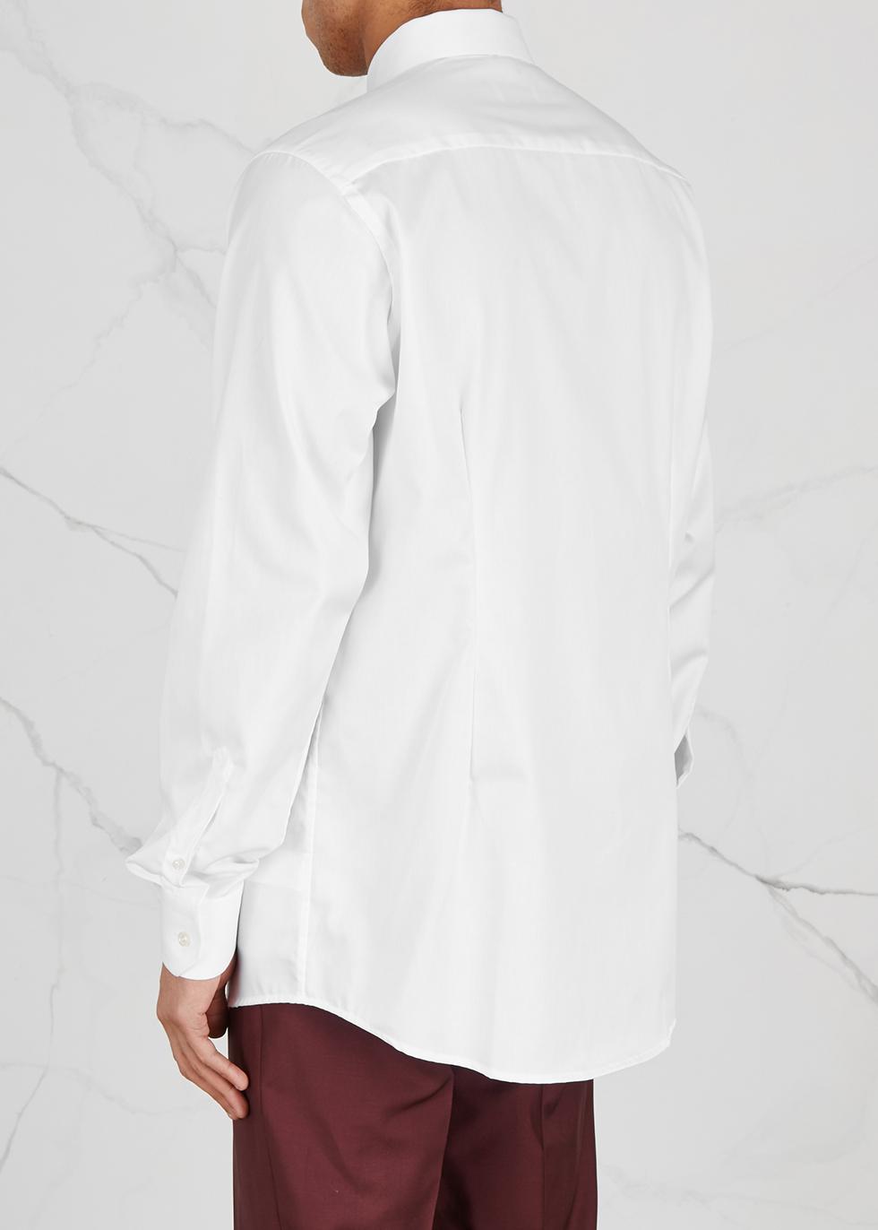 White contemporary cotton twill shirt - Eton