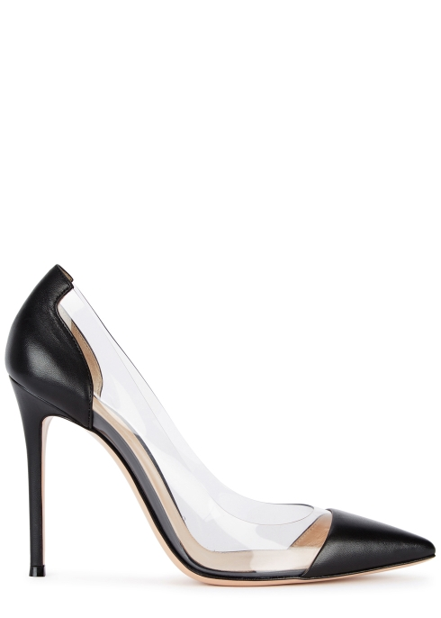 238bd32fe89 Gianvito Rossi Plexi 100 leather and Perspex pumps - Harvey Nichols