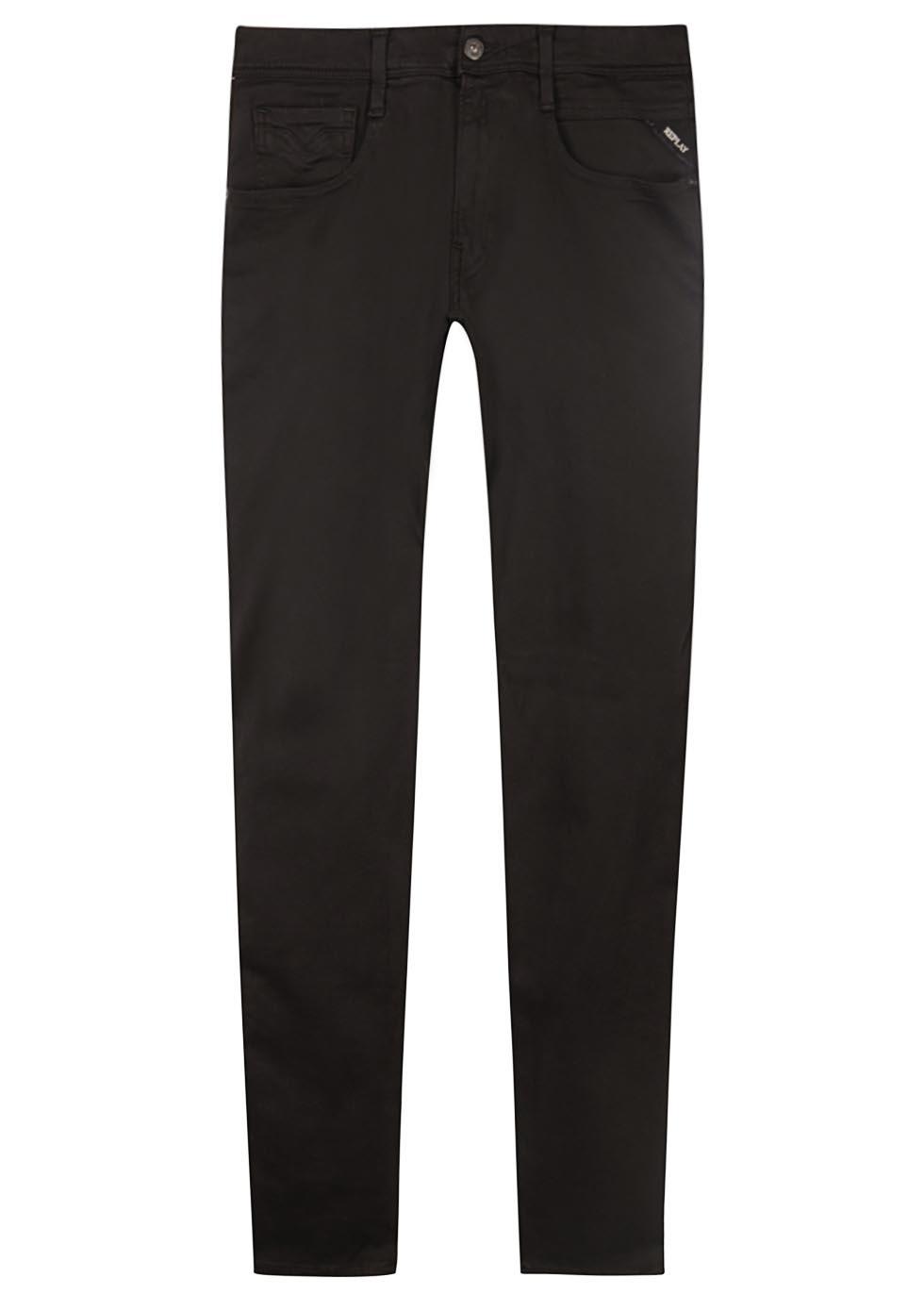 Anbass Hyperflex black slim-leg jeans