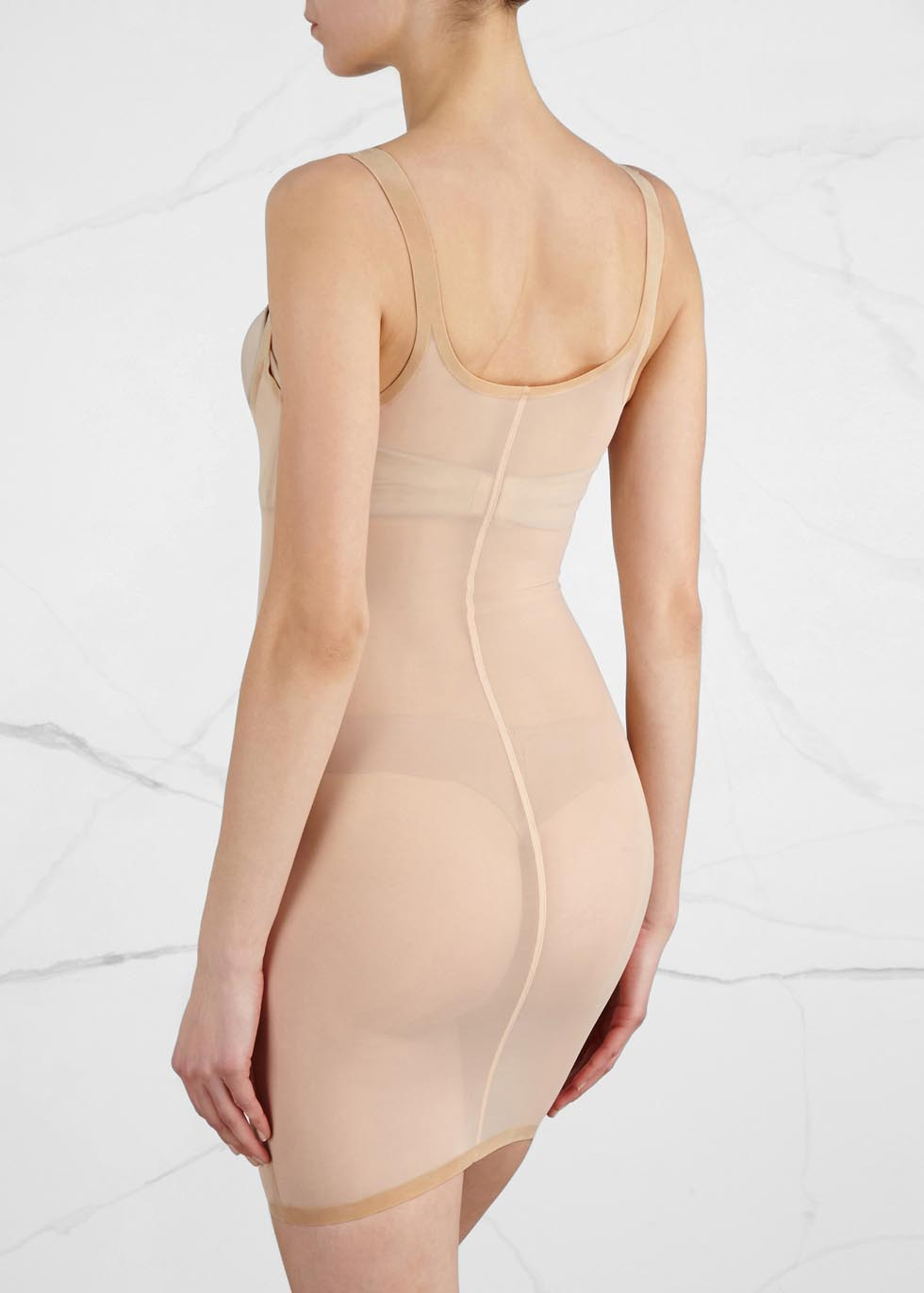 Almond tulle control dress - Wolford