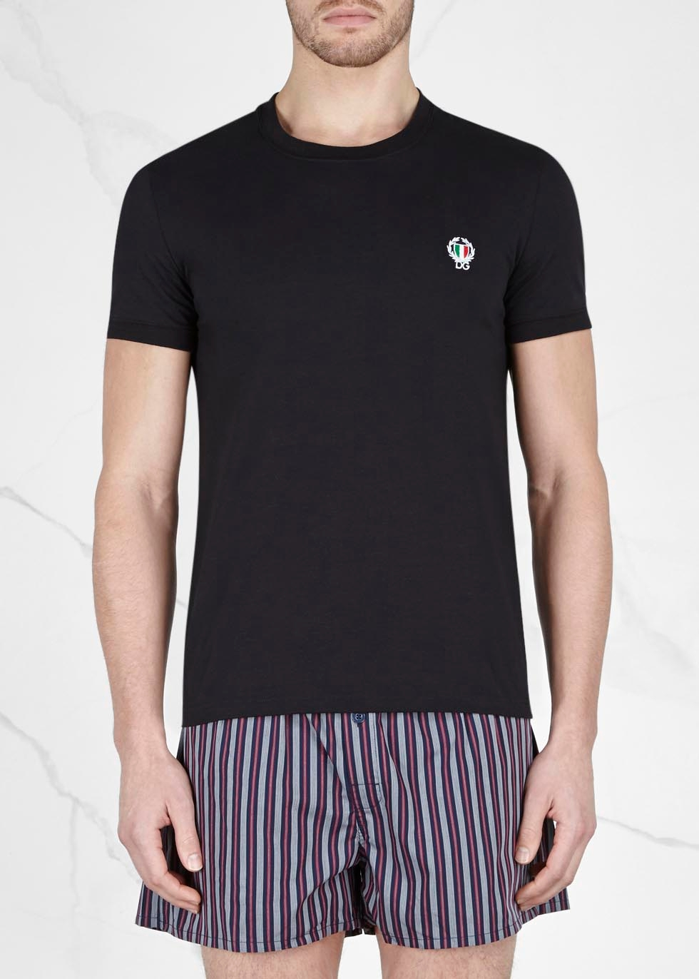 Black stretch cotton T-shirt - Dolce & Gabbana