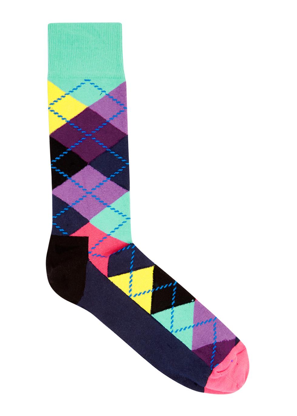 Argyle cotton blend socks - Happy Socks