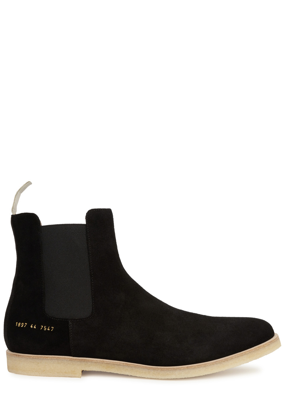 Stone brushed suede Chelsea boots