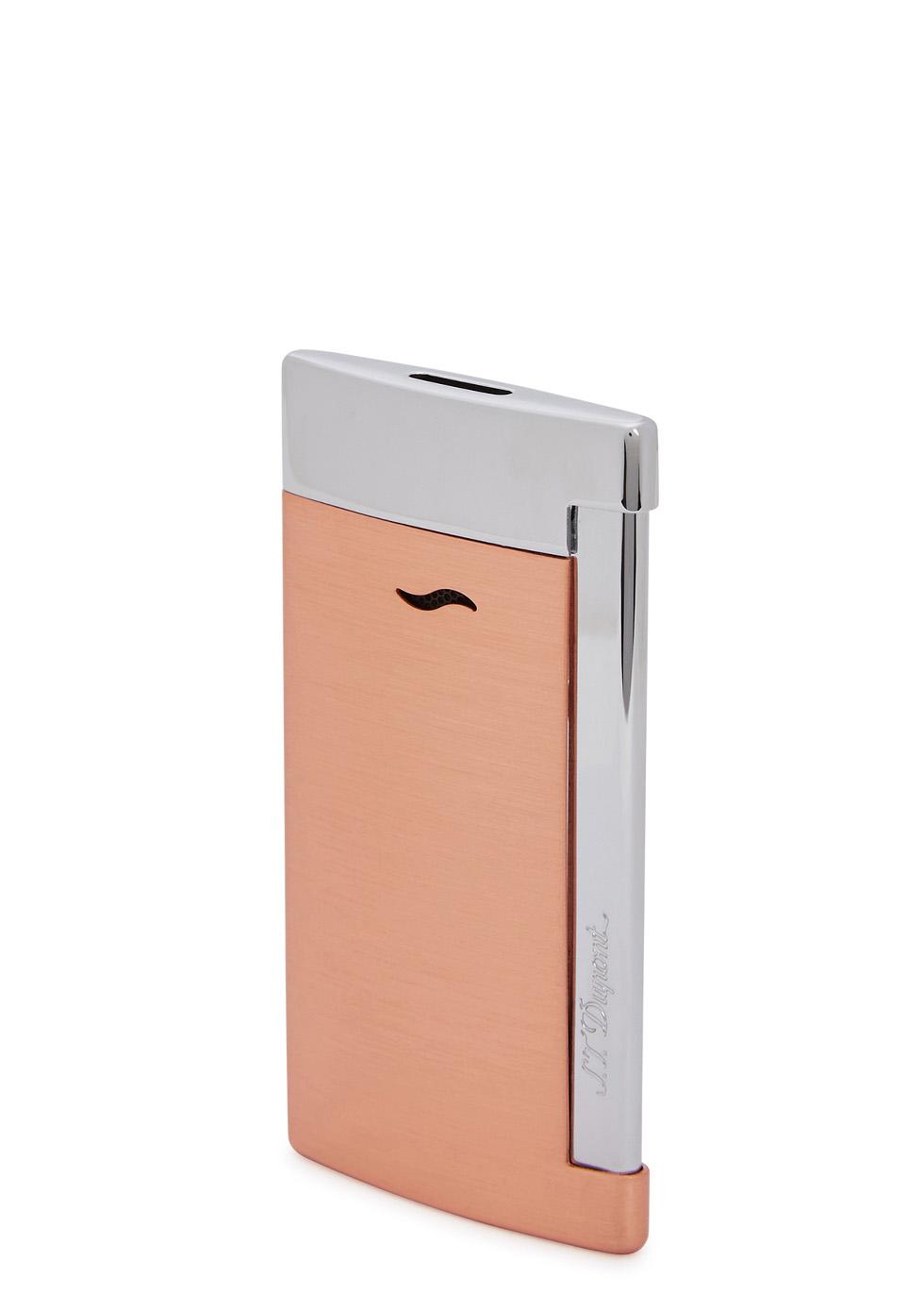 Slim 7 brushed copper tone lighter - S.T. Dupont