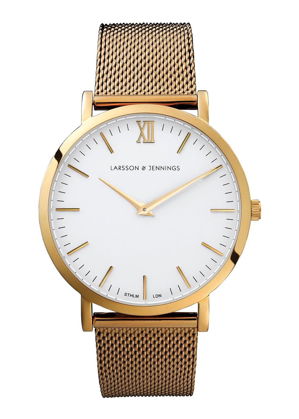 Chain Metal Gold-Plated Watch
