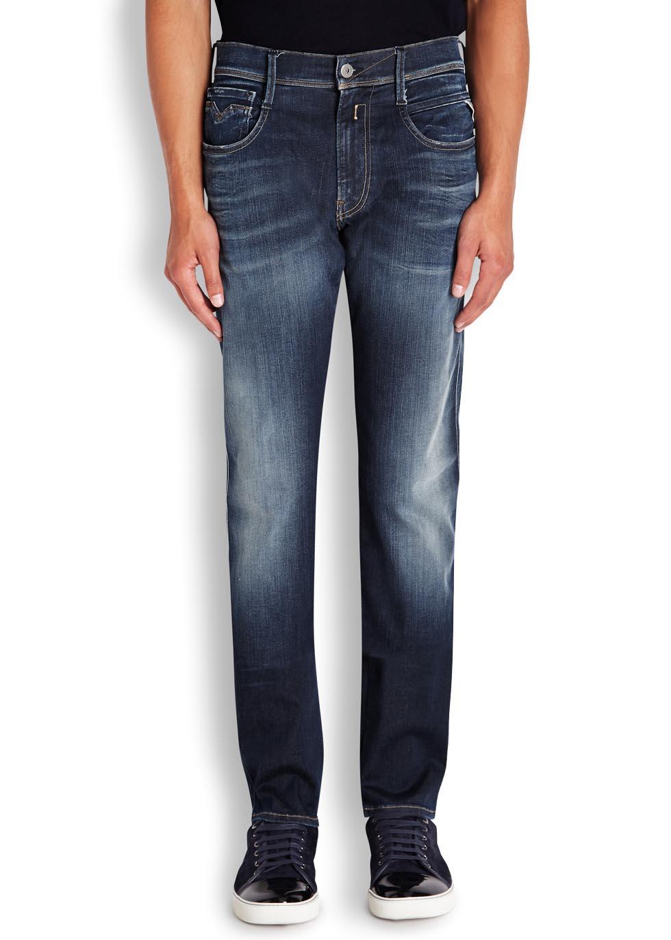 Anbass Hyperflex blue slim-leg jeans - Replay