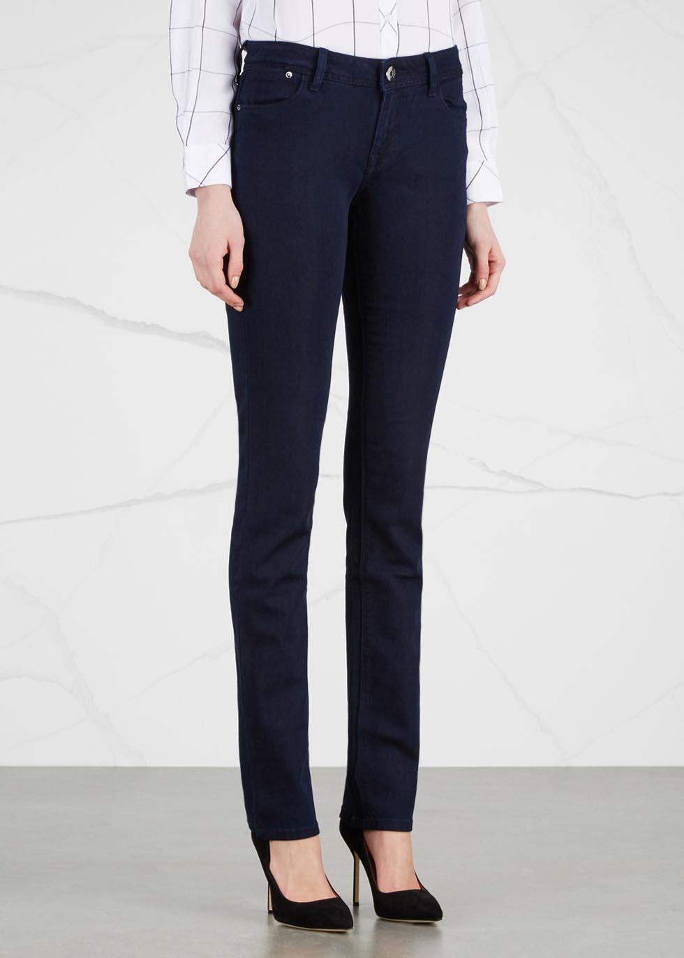 Coco Curvy dark blue slim straight-leg jeans - DL1961