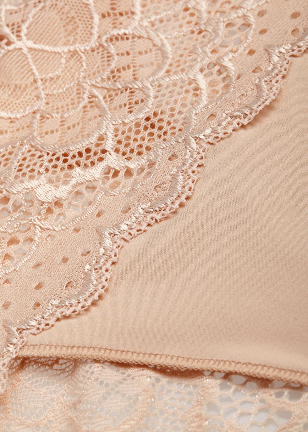 Caresse blush lace briefs - Simone Pérèle