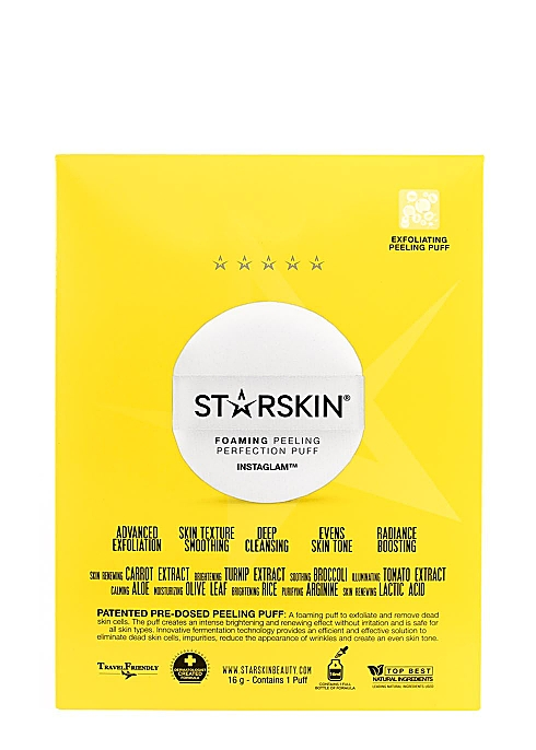 STARSKIN GlowStar Foaming Peeling Perfection Puff - Harvey Nichols