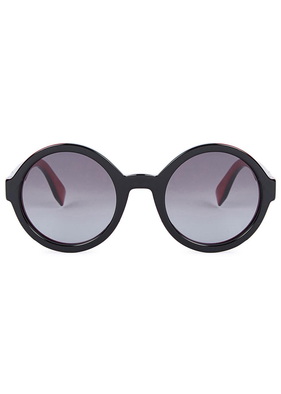 Black round-frame sunglasses - Fendi