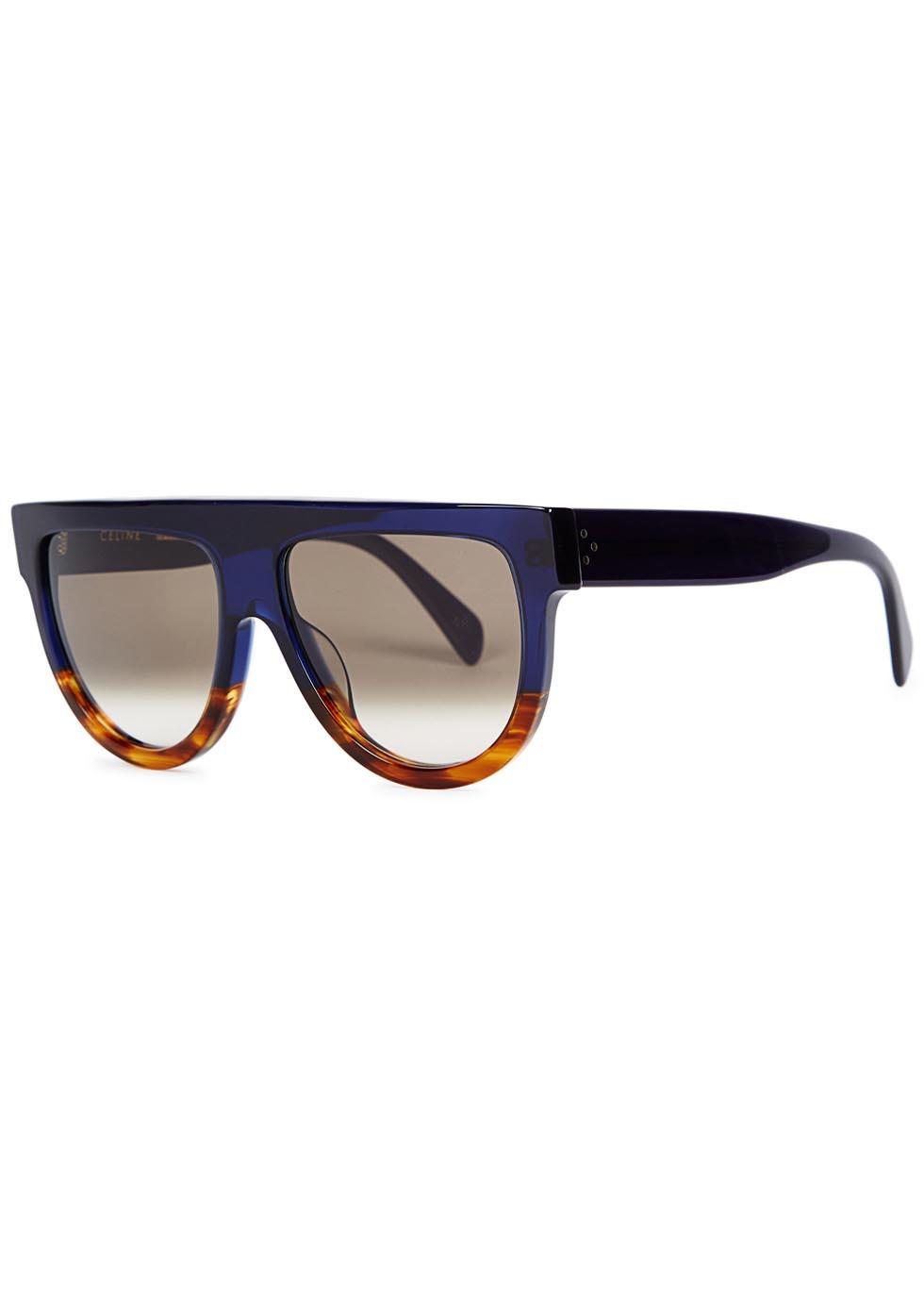 Shadow navy D-frame sunglasses - Celine