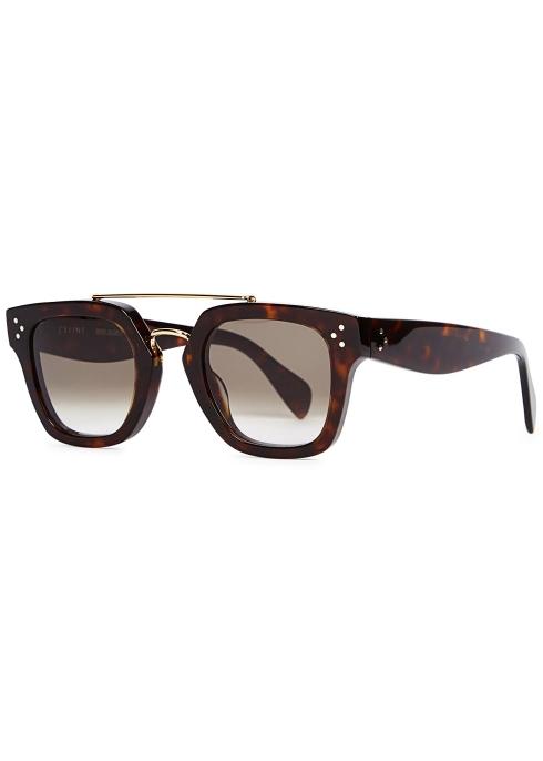 7c83faf298 Céline Tortoiseshell wayfarer-style sunglasses - Harvey Nichols