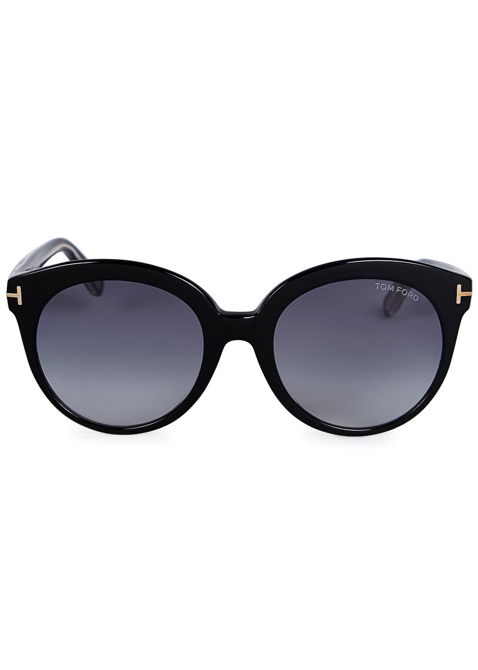 Monica black round-frame sunglasses - Tom Ford Eyewear