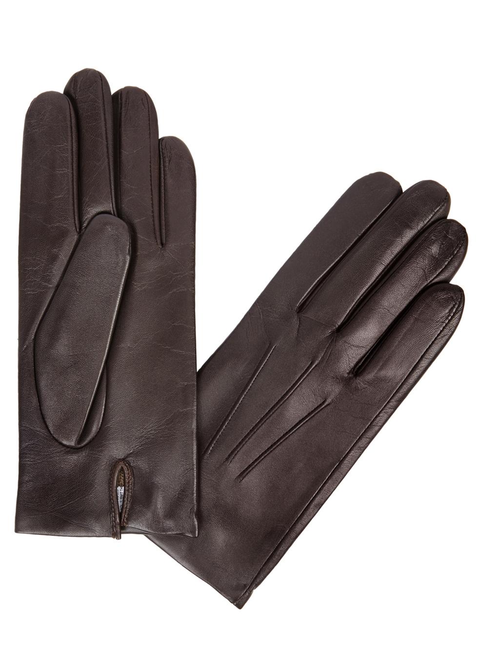 DENTS Bath Dark Brown Leather Gloves