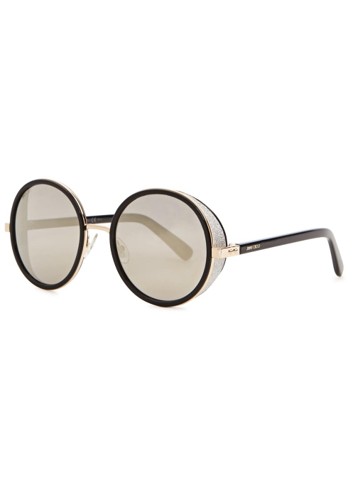 fa69c124dc7 Jimmy Choo Andie black mirrored sunglasses - Harvey Nichols