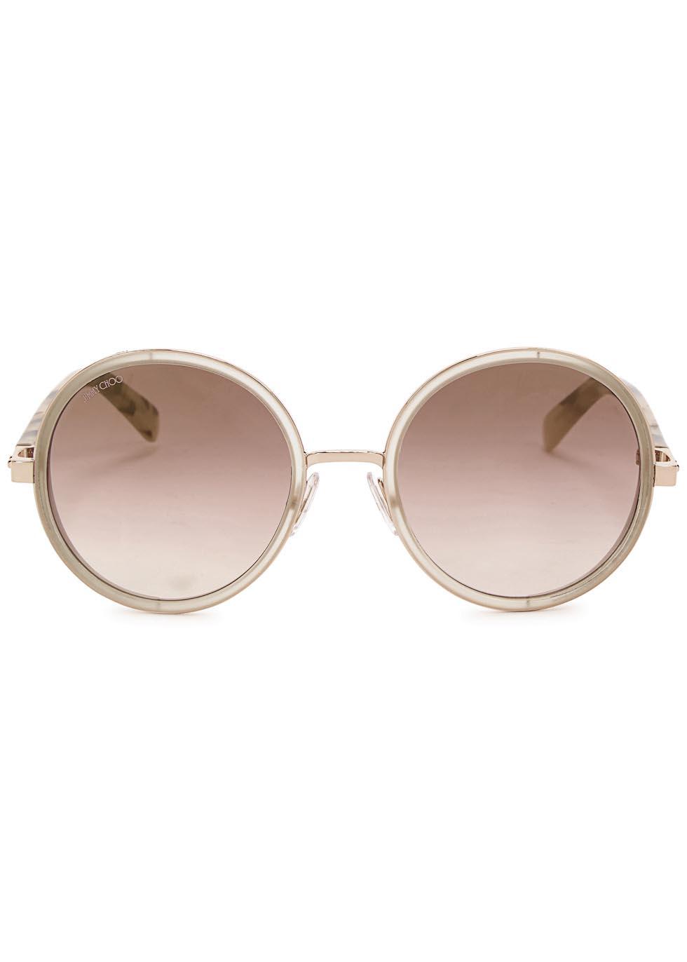 Andie rose gold tone mirrored sunglasses - Jimmy Choo